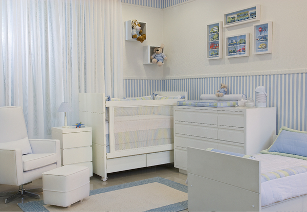 Quarto Bebe Masculino Papel Parede ~   d?o dicas de como decorar Quartos Pequenos com Ber?os de Beb?