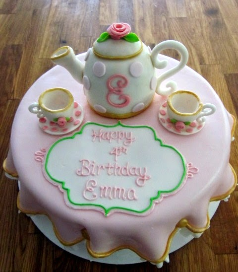 Tea Party Cake Images : Darlin  Designs: Tea Party Cake