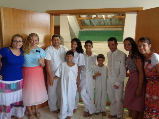 Baptism of Pedro Henrique and Family