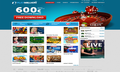Jogos de Casino online - PlayMillion