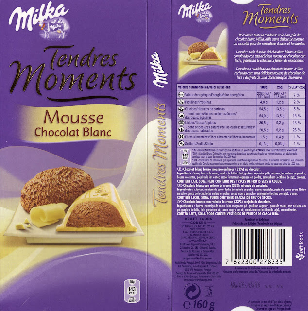 tablette de chocolat blanc fourré milka tendres moments mousse chocolat blanc 2
