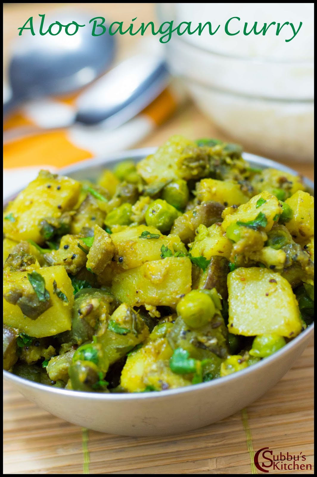 Aloo Baingan Curry Recipe   Potato Brinjal Curry Recipe