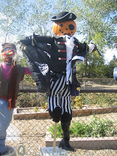 Pumpkin head scarecrow