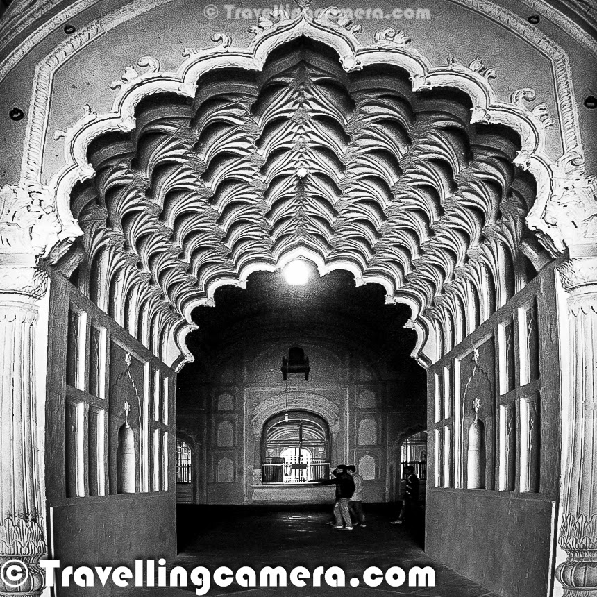 Some time back I shared about recent visit to Bada Imambara in Lucknow, which also has a maze which is popularly known as 'Bhool Bhulaiya'. This Photo Journey shares some interesting facts about Bhool Bhulaiya with appropriate photographs. Bhool Bhulaiya is probably one of best things to explore in Lucknow town and it's more fun to explore without any guide. At times guides can also add fun to this exploration process, because they also understand that people come to see a maze to have some interesting experience of getting lost. Above two photographs shows the way this maze is created. There are series of entry and exit points on both sides of this corridor. This one is one of the extreme corridors which was easy to click. Inside the maze, light was extremely low, so couldn't capture a good photographs inside the bhool bhulaiya. This photograph shows the roof-top of bhool bhuliyaa which offers some amazing views of the city on one side and Bada Imambara campus on the other. Many of the local folks in Lucknow highly recommend a visit to Bada Imambara. Lot of guides wait for tourists to serve them with a guided tour of bada Imambada and Bhool bhulaiya. Some of the guides are brilliant who take you through the tour in interesting way and ensure that you enjoy this exploration. At times, people suggest not to have a guide when going inside this maze called Bhool Bhulaiya. We also preferred not to have any guide at Bhool Bhulaiya. As we entered inside the maze, we were uncomfortable and not sure how much time it will take to come out. But it was fun to be lost and suddenly you start feeling that it's impossible to get out of this maze now. Now the trick is to follow any group which has a guide with them :) . We did the same and came out. There is a basic rule of coming out of this maze. If you want to know the trick, check out bottom of this post and if you want to have real fun, ignore it now and may come back when stuck inside. In my opinion, Bhool Bhulaiyaa is one of