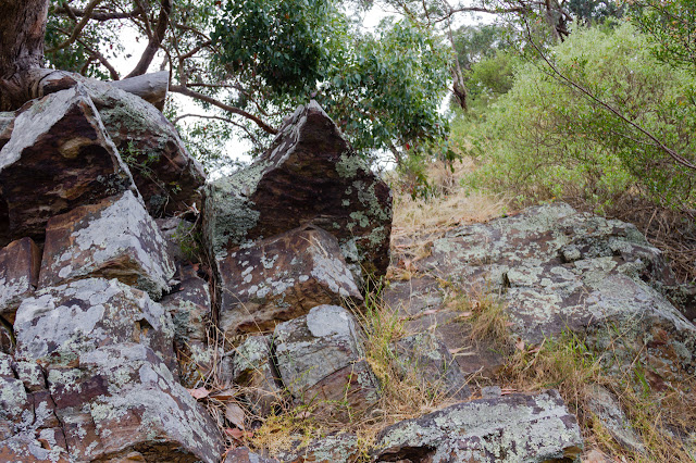 rocks on climb up falcons spur