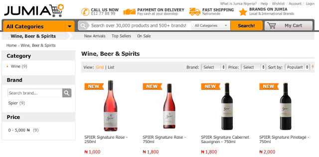 Jumia launches wine catergory