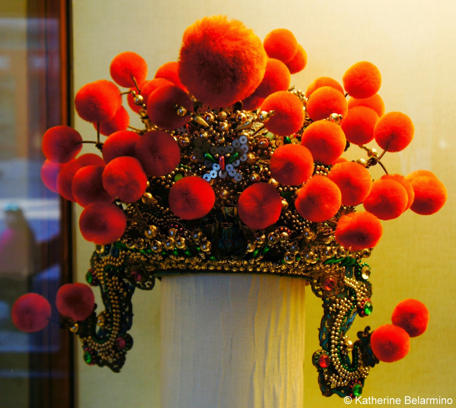 Ceremonial Headdress in the Treasure Gallery Forbidden City Beijing China