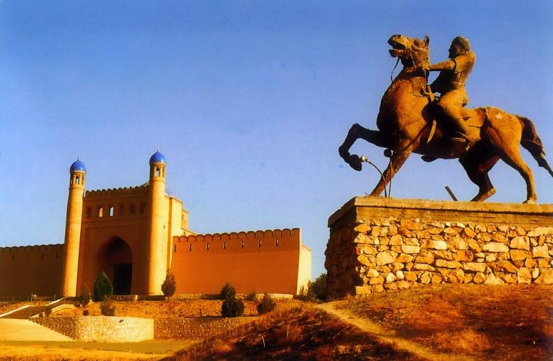 """Mug Tepe fortress in Istaravshan 39° 54' 58.13"""" N  69° 0' 26.18"""" E"""