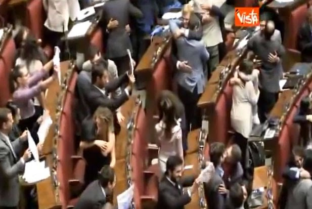 Italian Lawmakers Hold Same-Sex Kiss In Parliament To Protest Anti-Gay Rights