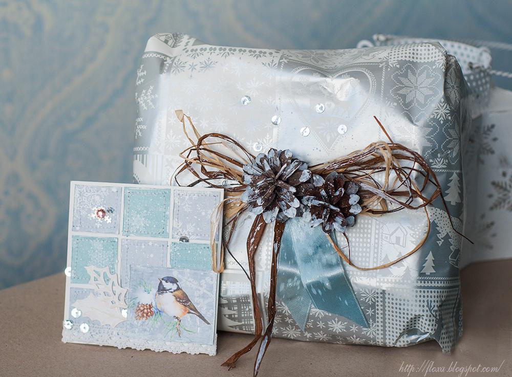 новогодняя упаковка подарка, подарочный набор на новый год, подарок другу