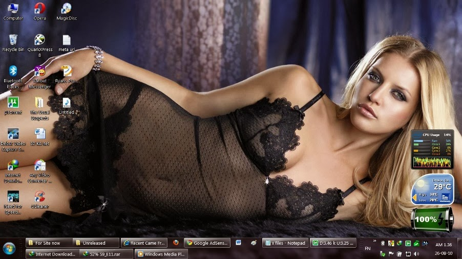Windows 7 Lingerie Playboy Theme