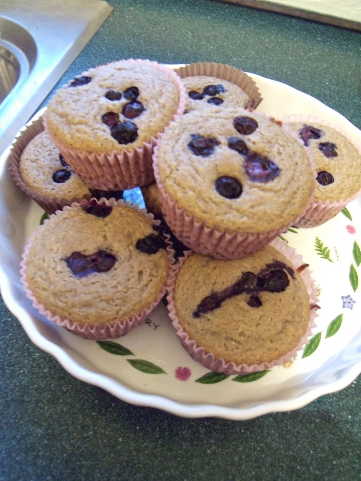In a Creative Context: Gluten-free Blueberry Buckwheat Corn Muffins