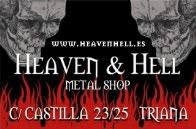 Heaven & Hell.  Clásica tienda especializada en artículos de Heavy Metal. Triana.