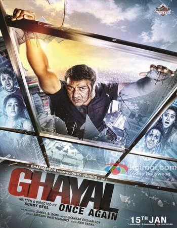 Poster Of Ghayal Once Again 2016 Hindi 700MB   Free Download Worldfree4u 9xmovies