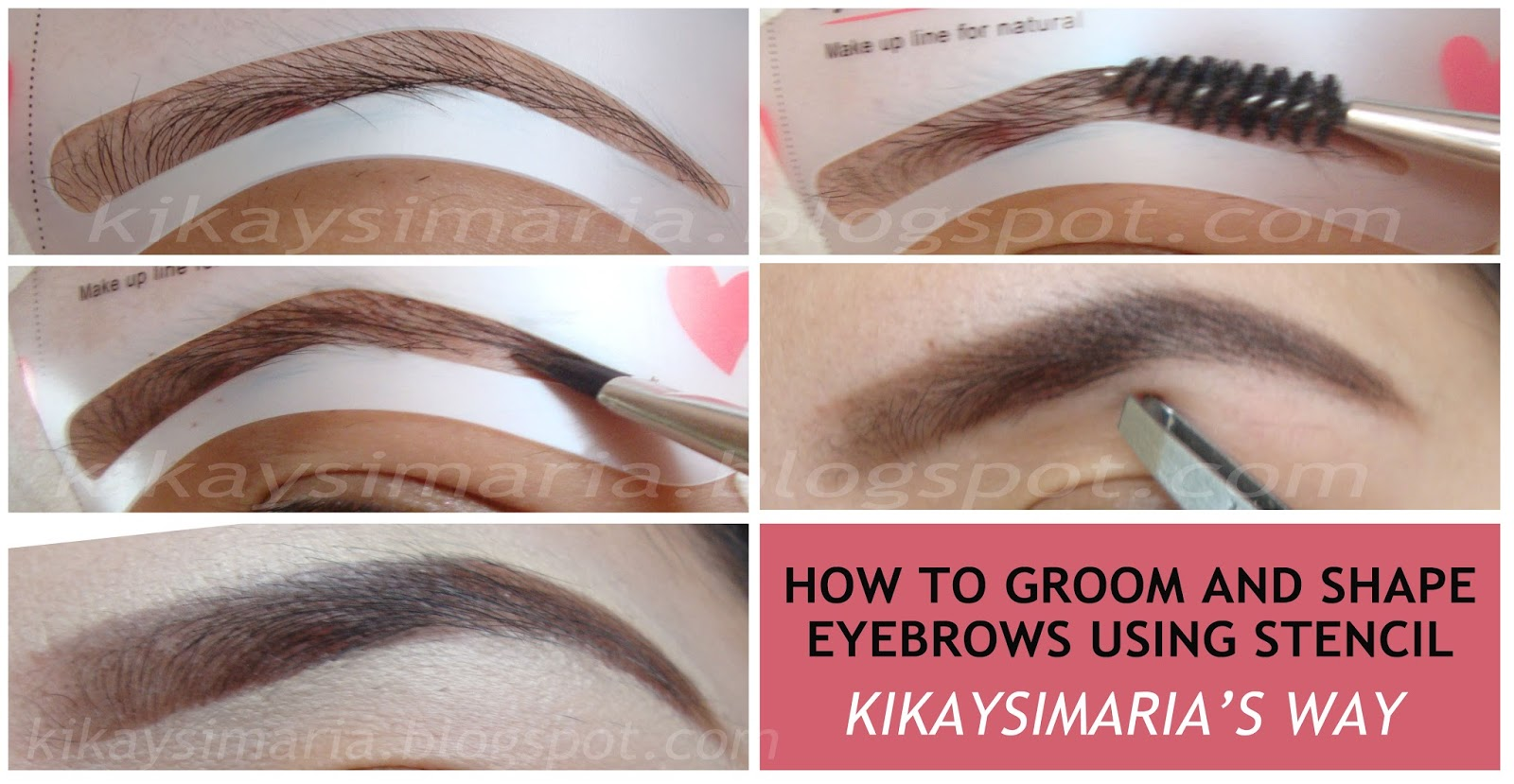 Kikaysimaria How To Shape And Groom Eyebrows Using Stencils