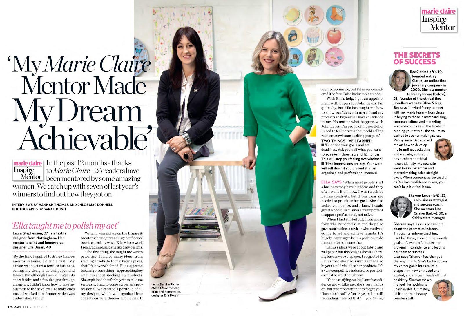 Meet Marie Claire's 2012 Mentors