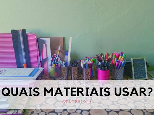{Hand Lettering}: Quais Materiais Usar
