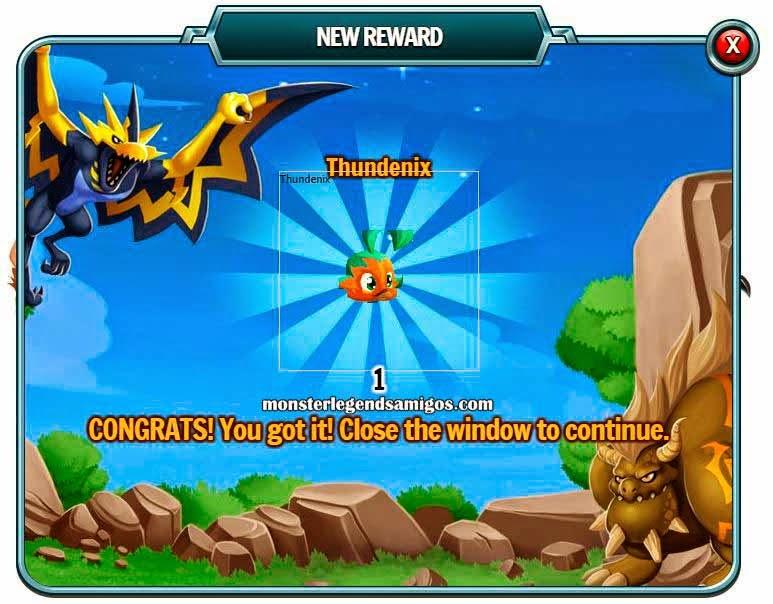 imagen del premio gratis de monstruo de monster legends