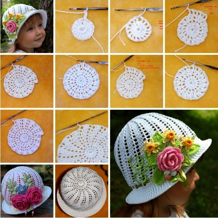 Free Crochet Patterns Little Girl Hats : As Receitas de Croch?: Chapeu de menina em croch? PAP