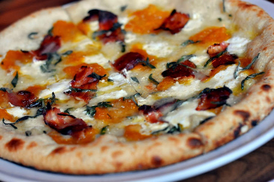 Pizza with Butternut Squash, Sage, and Pancetta - Molinari's - Bethlehem, PA | Taste As You Go