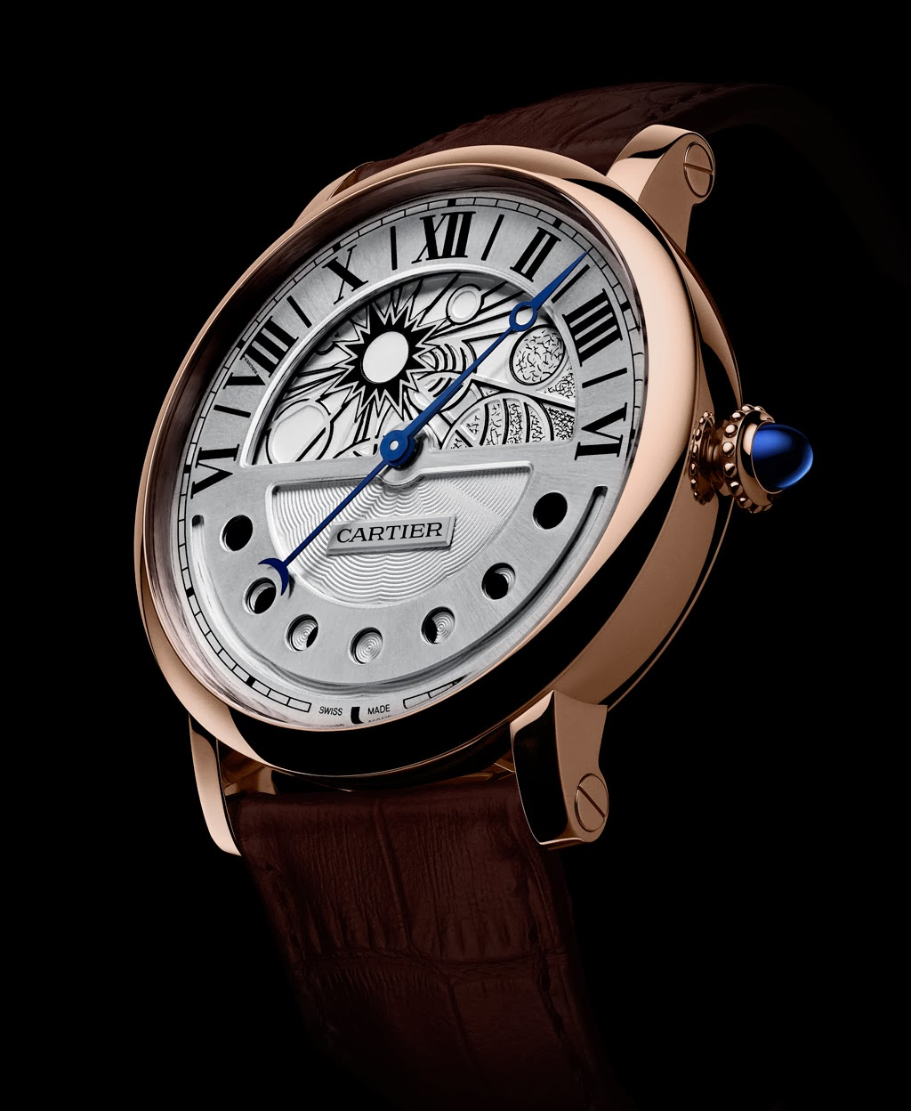 cartier rotonde de cartier day and night watch with