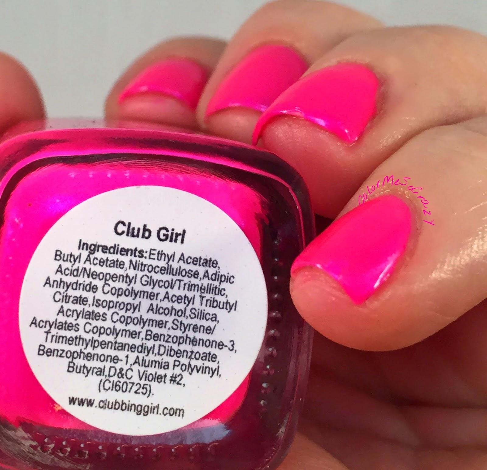 clubbing-girl-nail-polish, club-girl, hot-pink-nail-polish, stripper-nail-polish