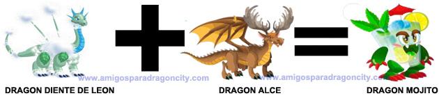como conseguir el dragon mojito en dragon city combinacion 1