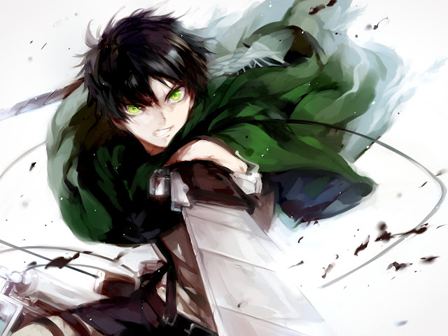Eren Jaeger Blade Cape Attack on Titan Shingeki no Kyojin Anime HD Wallpaper Desktop PC Background 2117