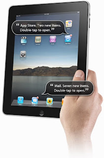 An iPad is a useful tool to assist everyone.