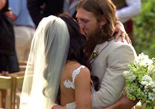 Boda de Daniel Bryan con su esposa Brie Bella, las super estrella del yes yes yes, brie bella se casa