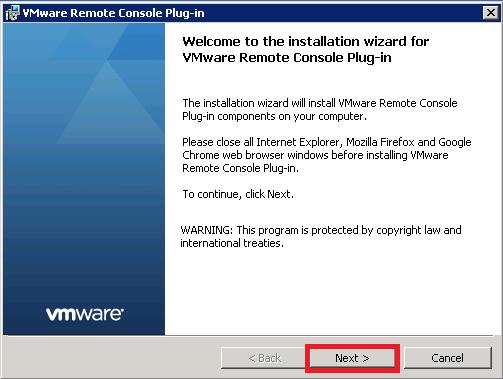 Instalaremos VMware Remote Console Plug-in