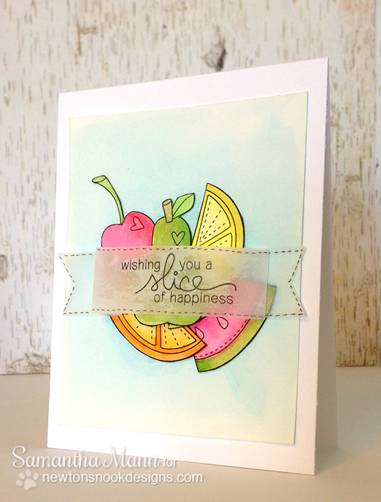 Sweet Fruit Card by Samantha Mann for Newton's Nook Designs | Sweet Summer Stamp Set