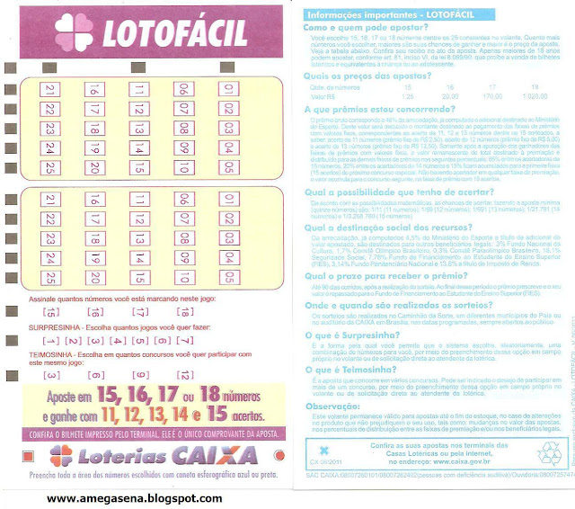 Image Result For Lotofacil