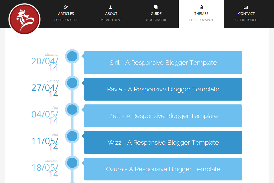 Blogger templates from Blogtipsntricks