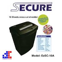 Harga Promo Paper Sheredder SECURE : EZSC-10A