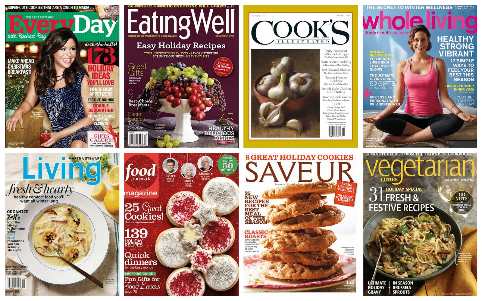 Karis kitchen a vegetarian food blog 2012 surprised to find that all of my favorite magazines such as saveur food network cooks illustrated vegetarian times martha stewart living forumfinder Gallery