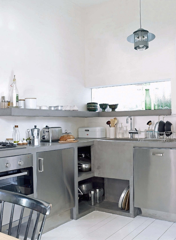 LOVE OR NOT: Industrial kitchens | Image by Gaelle Le Boulicaut for Home Magazine