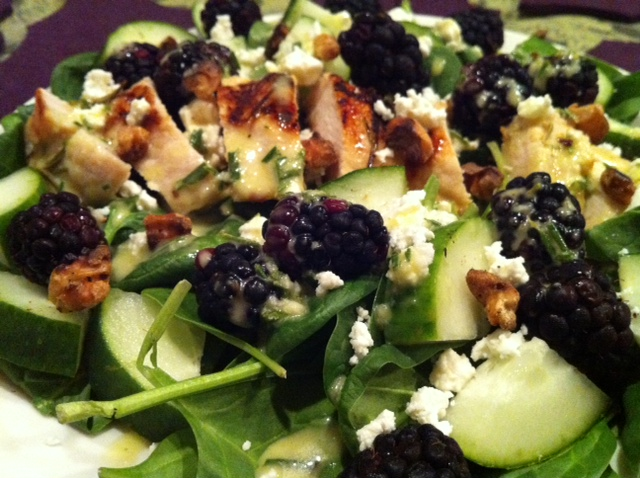 NomEatNom - Grilled Chicken and Blackberry Salad with Lemon Rosemary ...