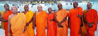 A group of renowned Ven. Bikkhus that toured Kolkata with Mihin Lanka
