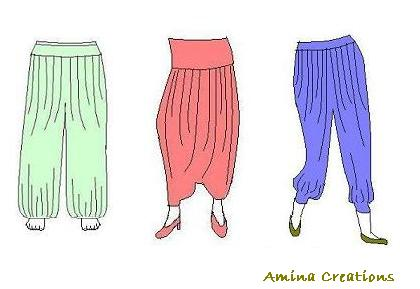AMINA CREATIONS: HAREM PANTS PATTERNS