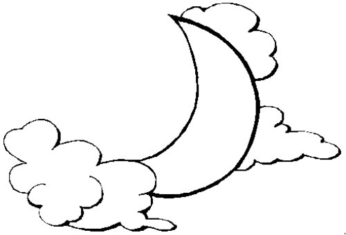 moon coloring pages for kids