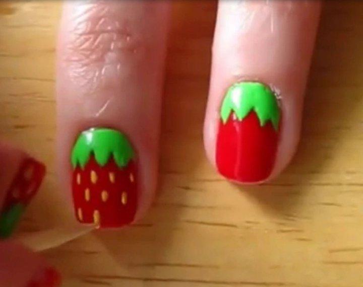 Trik Membuat Kuku Strawberry Mellizas Blog