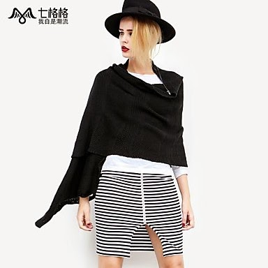ladies black designer asymmetrical batwing sweater