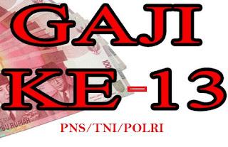 Resmi Pencairan Gaji ke-13 PNS/TNI/POLRI pada 1 Juli 2015