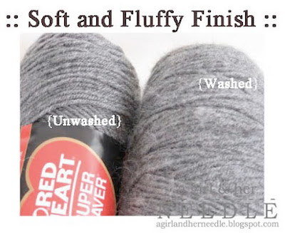 soften scratch acrylic yarn tutorial