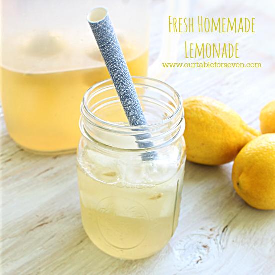 Fresh Homemade Lemonade • Table for Seven