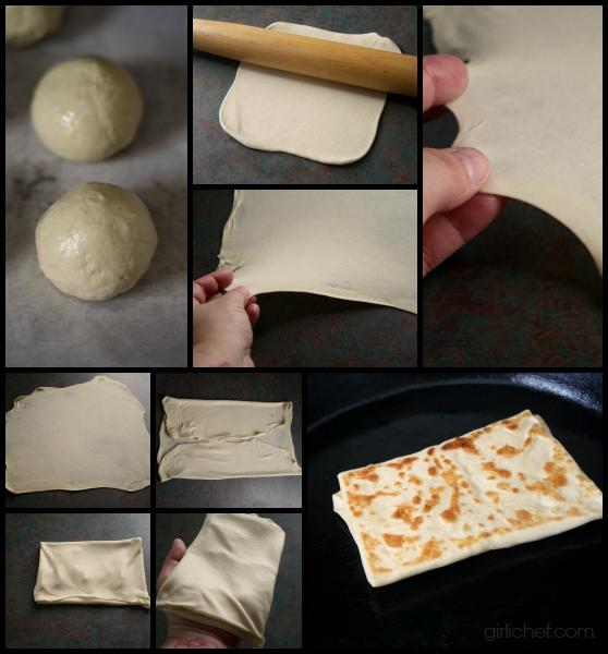 making Rghaïf (Moroccan Flat Bread) | www.girlichef.com