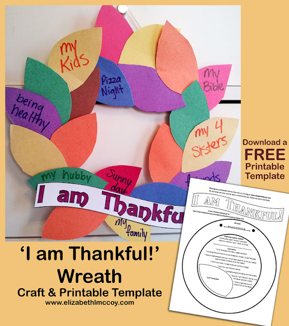 thankful wreath craft