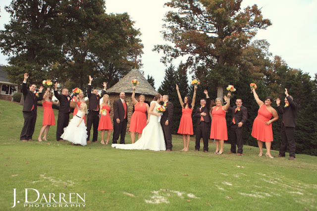 photo of the fun bridal party at a Bermuda Run Counrty Club Wedding in Bermuda Run North Carolina