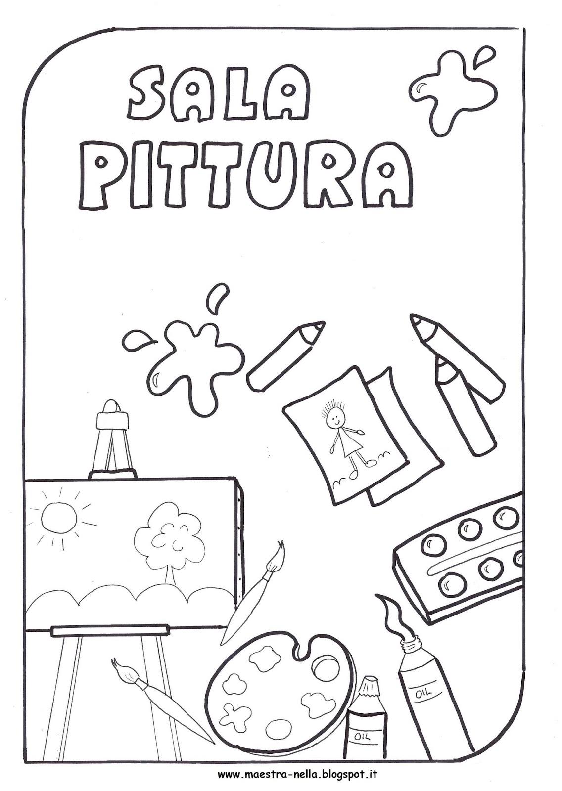 Maestra nella cartelli vari for Cartelli per la porta dell aula da stampare